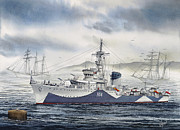 Naval History Prints - ORP Blyskawica Print by James Williamson