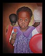 Kenya Pastels - Orphan of Hodi Hodi by Teresa  Harris