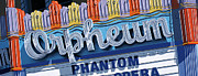 Signage Paintings - Orpheum Theater by Anthony Ross