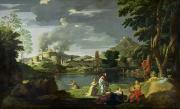 Nicolas (1594-1665) Painting Acrylic Prints - Orpheus and Eurydice Acrylic Print by Nicolas Poussin