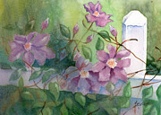 Vine Painting Originals - Orrville Clematis by Marsha Elliott