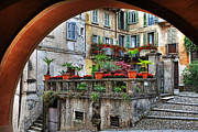 Shutters Photos - Orta San Giulio in Italy by Joana Kruse