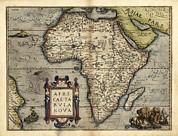 Theatrum Orbis Terrarum Framed Prints - Orteliuss Map Of Africa, 1570 Framed Print by Library Of Congress, Geography And Map Division