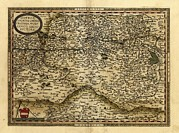 Cartography Photos - Orteliuss Map Of Austria, 1570 by Library Of Congress, Geography And Map Division