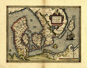 Cartography Photos - Orteliuss Map Of Denmark, 1570 by Library Of Congress, Geography And Map Division