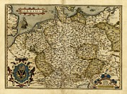 European Artwork Posters - Orteliuss Map Of Germany, 1570 Poster by Library Of Congress, Geography And Map Division
