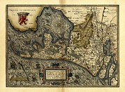 Ortelius's Map Of Holland, 1570 Print by Library Of Congress, Geography And Map Division