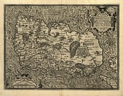 St Elizabeth Prints - Orteliuss Map Of Ireland, 1598 Print by Library Of Congress, Geography And Map Division