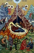 Orthodox Prints - Orthodox Christmas Card Print by Munir Alawi