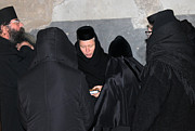 Praying Photo Originals - Orthodox Gathering and Praying by Munir Alawi