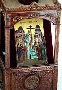 Greek Icon Framed Prints - Orthodox Icon Framed Print by John Rizzuto