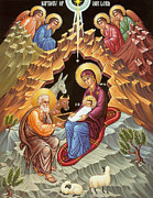 Nativity Prints - Orthodox Nativity Scene Print by Munir Alawi