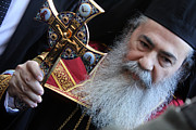 Nativity Prints - Orthodox Patriarch Print by Munir Alawi
