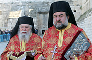 Orthodox Photo Originals - Orthodox Priests During Orthodox Christmas by Munir Alawi