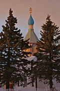 Onion Dome Prints - Orthodox Print by Rick  Monyahan