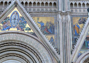 Plaster Digital Art Posters - Orvieto Cathedral Poster by Mindy Newman
