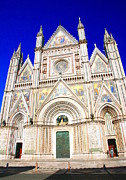 Entrance Door Photos - Orvieto Cathedral by Valentino Visentini