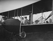 Bi Planes Photos - Orville Wright 1871-1948 And His Sister by Everett