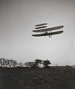 Bi Planes Photos - Orville Wright 1871-1948 Flying by Everett
