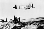 Bi Planes Framed Prints - Orville Wright Making A Record Breaking Framed Print by Everett