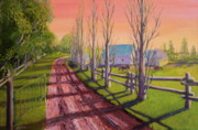 Farmland Painting Originals - Orwell Farm by Lorraine Vatcher