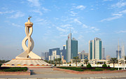 Qatar Framed Prints - Oryx Roundabout in Qatar Framed Print by Paul Cowan