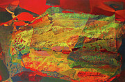 Cosmic Paintings - OS1957BO002 Abstract Landscape of Potosi Bolivia 29x18 by Alfredo Da Silva