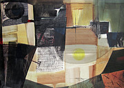 X Paintings - OS1957BO006 Abstract Landscape of Potosi Bolivia 21.6 x 31.3 by Alfredo Da Silva
