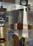 Abstract 3-d Paintings - OS1957BO016 Abstract Landscape of Potosi Bolivia 20.3 x 28.9 by Alfredo Da Silva