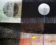 Cosmic Paintings - OS1958BO001 Abstract Landscape Potosi 21.75x16.5 by Alfredo Da Silva