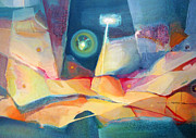 Cosmic Paintings - OS1959AR003 Abstract Landscape Buenos Aires 24.25x17 by Alfredo Da Silva
