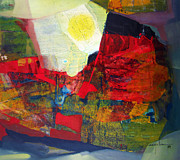 Cosmic Paintings - OS1959AR006 Abstract Landscape of Potosi Bolivia 22.75x20.25 by Alfredo Da Silva