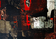 Abstract 3-d Paintings - OS1959AR011BA Abstract Landscape of Potosi Bolivia 17.6 x 26.3 by Alfredo Da Silva