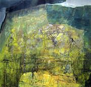 Latin American Paintings - OS1959AR015BA Abstract Landscape of Potosi Bolivia 20.9 x 21.9 by Alfredo Da Silva