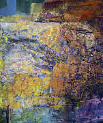 Cosmic Paintings - OS1959AR017BA Abstract Landscape of Potosi Bolivia 18 x 21 by Alfredo Da Silva