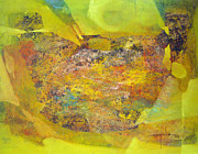 Cosmic Paintings - OS1959BO002 Abstract Landscape Potosi 22.5x17 by Alfredo Da Silva