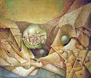 Celestial Paintings - OS1980DC001 Celestial Globe NO.1 28.25x24 by Alfredo Da Silva