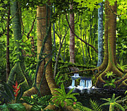 National Park Paintings - Osa Peninsula Rainforest by Michael Cranford
