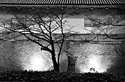 Silhouettes Metal Prints - Osaka Castle Wall Metal Print by Dean Harte