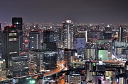 Clear Sky Art - Osaka Nightscape by ***