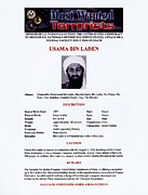 Fbi Prints - Osama Bin Laden, Militant Islamist Print by Everett