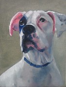Boxer Painting Prints - Oscar Print by Bonnie Freireich