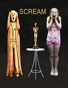 Best Of Red Carpet Prints - Oscar Scream Print by Eric Kempson