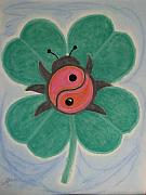 Leaf Pastels Originals - Oscar The Lady Bug by Laura Jordan