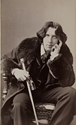 1880s Framed Prints - Oscar Wilde, 1854-1900 Irish Writer Framed Print by Everett