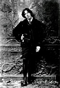 Wilde Framed Prints - Oscar Wilde, Irish Author Framed Print by Sylvia Beach Collection, Princeton