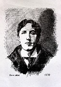 Writer Drawings Prints - Oscar Wilde Print by John  Nolan