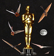 Award Digital Art Posters - Oscars Night Out Poster by Eric Kempson