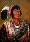 Americans Mixed Media - Osceola the Black Drink a Warrior of Great Distinction by John Travisano after George Catlin by John Travisano