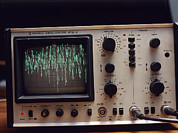Electrical Potential Prints - Oscilloscope Print by Andrew Lambert Photography
